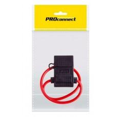 Держатель предохранителя PROconnect, тип вилочный, черный, 1 шт., пакет БОПП 16-0421-9