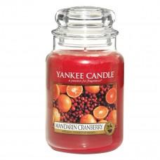 Свеча большая в стеклянной банке Мандарин и клюква Mandarin Cranberry 623 гр / 110-150 часов 1053154E