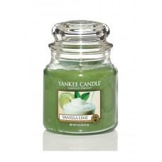 Свеча средняя в стеклянной банке Ваниль и лайм Vanilla Lime 411 гр / 65-90 часов 1107077E