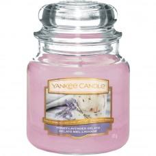 Свеча средняя в стеклянной банке Медово-лавандовый пломбир Honey Lavender Gelato 411 гр / 65-90 часов 1521685E