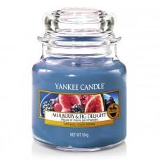 Свеча средняя в стеклянной банке Инжир  и ежевика Mulberry & Fig Delight 411 гр / 65-90 часов 1556246E