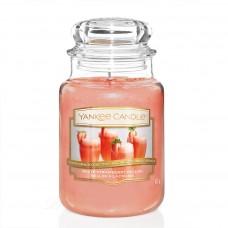 Свеча средняя в стеклянной банке Клубничный беллини White Strawberry Bellini 411 гр / 65-90 часов 1611847E