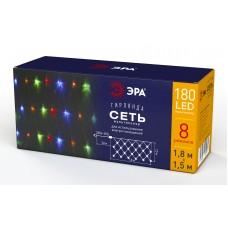 ENIS-01M  ЭРА Гирлянда LED Сеть 1,8 м*1,5 м мультиколор, мультирежим, 220V, IP20 Б0041901