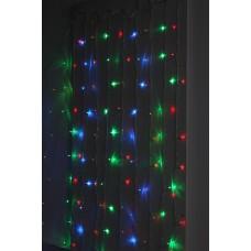 ENIZ-01M  ЭРА Гирлянда LED Дождь/Занавес 1,8 м*1,5 м мультиколор 8 режимов, 220V, IP20 Б0041900