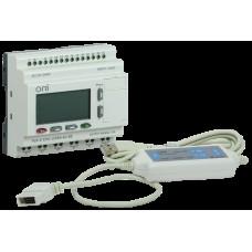 Логическое реле PLR-S. CPU1206(R) 220В AC с экраном ONI PLR-S-CPU-1206R-AC-BE