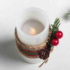 Свеча светодиодная восковая «Снежинка» 4131492