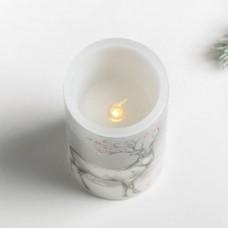 Свеча светодиодная восковая «С Новым годом» 4131604