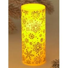 Свеча светодиодная восковая «Снежинки» 4131590