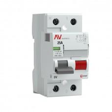 Устройство защитного отключения DV 2P  25А/300мА (A) EKF AVERES rccb-2-25-300-a-av