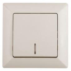 4-102-02 Intro Выключатель с подсветкой, 10А-250В, СУ, Solo, сл.кость (10/200/2400) Б0043271