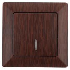 4-102-10 Intro Выключатель с подсветкой, 10А-250В, СУ, Solo, венге (10/200/2400) Б0043275