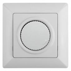 4-401-01 Intro Светорегулятор поворотный, 600Вт 230В, СУ, Solo, белый (10/100/2000) Б0043396
