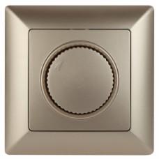 4-401-04 Intro Светорегулятор поворотный, 600Вт 230В, СУ, Solo, шампань (10/100/2500) Б0043399