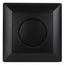 4-401-05 Intro Светорегулятор поворотный, 600Вт 230В, СУ, Solo, антрацит (10/100/2400) Б0043400