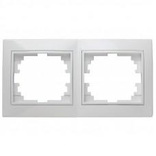 4-502-01 Intro Рамка на 2 поста, СУ, Solo, белый (20/400/3200) Б0043410