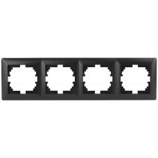 4-504-05 Intro Рамка на 4 поста, СУ, Solo, антрацит (14/140/1680) Б0043428