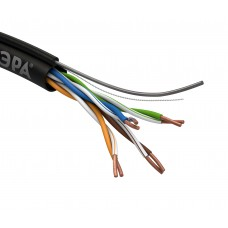 UL-4-PE LAN-кабель витая пара U/UTP-Cu   ЭРА  4x2x24AWG Cat5e CU PE OUTDOOR 305м SIMP Б0044427