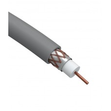 R-64-PVC100 Коаксиальный кабель Cu   ЭРА RG-6U, 75 Ом, Cu/(оплётка Cu 64%), PVC, цвет белый, Б0044603