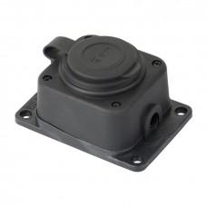 Роз. одномест. с защит. крышкой каучуковая 230В 2P+PE 16A IP44 EKF PRO RPS-014-16-230-44-r