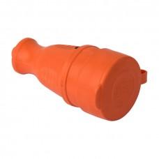 Роз. перенос. с защитной крышкой оранжевая каучуковая 230В 2P+PE 16A IP44 EKF PRO RPS-012-16-230-44-ro