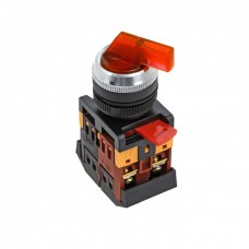 Переключатель ANLC-22 2P красный с подсветкой 24В DC NO+NC EKF PROxima psw-anlc-2p-r-24
