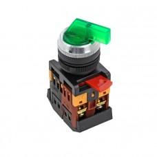Переключатель ANLC-22 3P зеленый с подсветкой 24В DC NO+NC EKF PROxima psw-anlc-3p-g-24