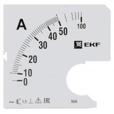 Шкала сменная для A961 50/5А-1,5 EKF PROxima s-a961-50