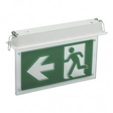 Светильник аварийно-эвакуационный светодиодный встраиваемый ССА3001 двусторонний 3ч 3Вт сменный знак IEK LSSA0-3001-3-20-K03