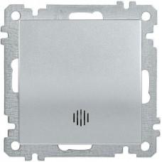 ВС10-1-1-Б Выключатель 1 клав. инд. 10А BOLERO серебр. IEK EVB11-K23-10