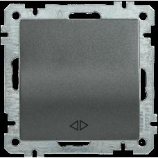 ВС10-1-2-Б Выключатель 1 клав. прох. 10А BOLERO антрацит IEK EVB12-K95-10