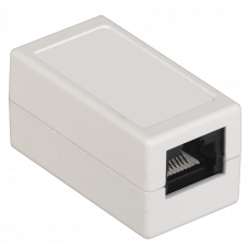 ITK Проходной адаптер кат. 6 UTP тип RJ45-RJ45, белый CS70-1C06U