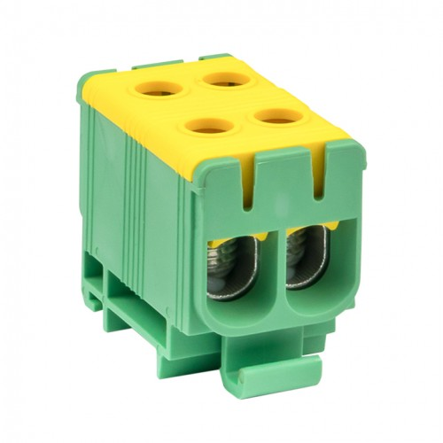 Клемма силовая вводная двойная КСВ 16-50 желто-зеленая EKF PROxima plc-kvs2-16-50-y-green