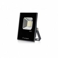Светодиодный прожектор AR-FLAT-ICE-10W-220V White (Black, 120 deg) 023567