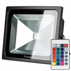 Светодиодный прожектор AR-FLB-50W-220V RGB (IR ПДУ Карта 24кн) 023853
