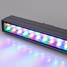 Светодиодный прожектор AR-LINE-1000XL-54W-24V RGB (Grey, 30 deg, DMX512) 023638