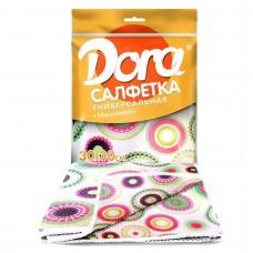 Салфетка из микрофибры Dora с цветным рисунком,                                                        30х30 см, 1 шт 2001-027