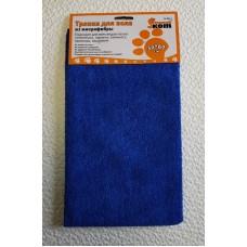 Тряпка для пола из микрофибры M-02F-L, цвет: синий, размер: 50*60 см 310236