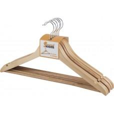 Набор вешалок деревянных W2-P-NS/6 (эконом) (дерево лакир., 6 шт) 311361