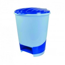 Ведро д/мусора 10л (с педалью)(голубой) (уп.1) М1380