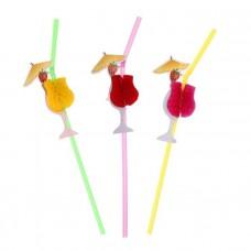 Трубочка для коктейля Зонтик 12шт VPH044