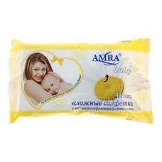 Amra влажные салфетки 48шт Детские Ромашка 29081