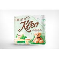 Туалетная бумага Мягкий знак KLEO AROMA Мята, 3 слоя, 4 рулона С93