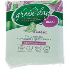 Прокладки женские 8 шт Ultra Maxi Dry GREEN DAY *24 (ШК: 4627087923143 ) 870467