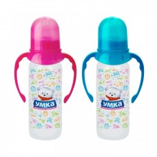 Бутылочка для кормления с ручками с силиконовой соской ТМ