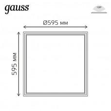 Светодиодная рамка-светильник Gauss IP40 595*595*11мм 36W FRAME LIGHT 3200lm 6500K 1/2 975624336